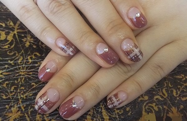 Френч на ногтях новинки осень-зима