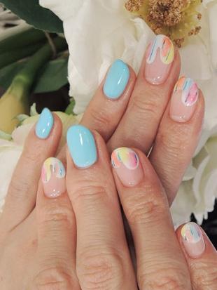 Дизайн ногтей с градиентом фото