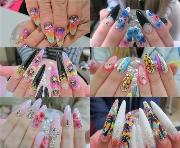 Креативный маникюр на длинных ногтях