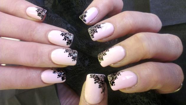 Узоры ажурные на ногтях