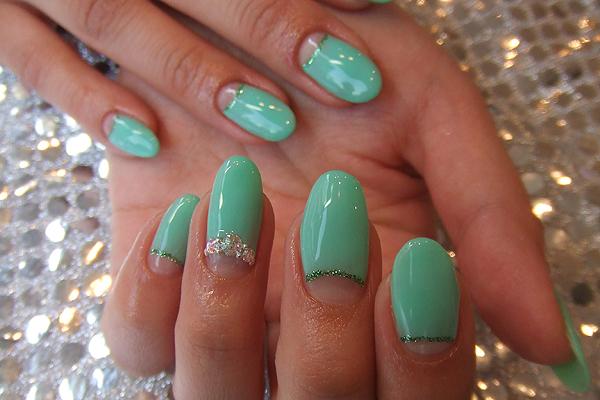 Фото ногти зеленые дизайн