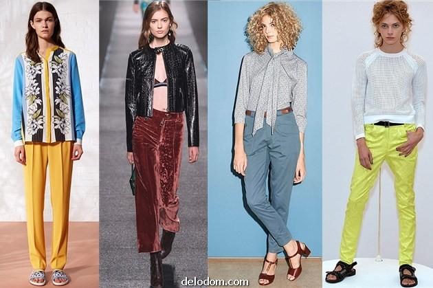 Модные Брюки Весна 2015 Женские
