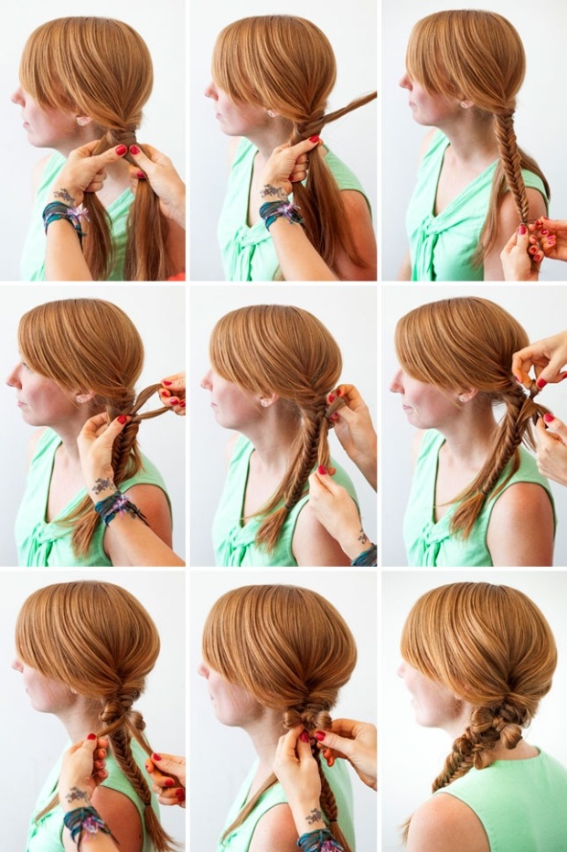 Бант из волос, варианты